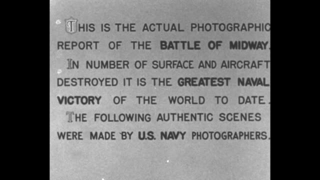"""vídeos y material grabado en eventos de stock de """"official united states navy -the battle of midway"""" introduction continues / allies propaganda film for united states / pacific theater map / navy... - narrar"""