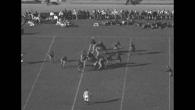 """oregon state ties trojans"" / southern california kicking off ball, oregon takes it / vs game in progress / oregon state kicks ball high and far /... - ball stock videos & royalty-free footage"
