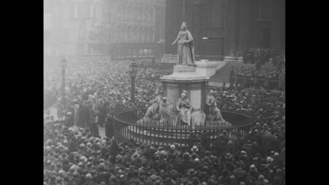 """""""our glorious dead"""" / high angle priest and choir boys walk past the cenotaph in whitehall, london, united kingdom for the 17th anniversary of... - ww1 battle stock videos & royalty-free footage"""