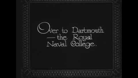 """""""over to dartmouth - the royal naval college"""" / flyover of the britannia royal naval collage / note: exact year not known - devon stock videos & royalty-free footage"""