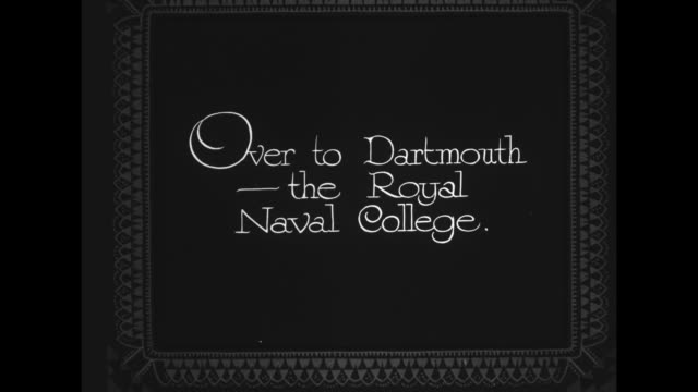"""over to dartmouth - the royal naval college"" / flyover of the britannia royal naval collage / note: exact year not known - devon stock videos & royalty-free footage"