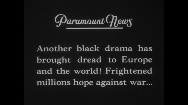 'Paramount News Special' / title card 'First Pictures Assassination King Alexander and Louis Barthou' / title card 'Another black drama has brought...