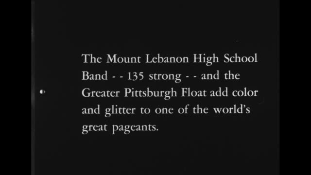 pittsburgh stars in rose bowl parade / title card the mount lebanon high school band 135 strong and the greater pittsburgh float add color and... - convertible top stock videos & royalty-free footage