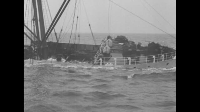 sandy hook nj the ss metapan inward bound with a valuable cargo including half a million in gold is rammed by and sunk off sandy hook by the ss iowan... - wrack stock-videos und b-roll-filmmaterial
