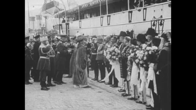 sebastopol russia annual visit of the czar czarina and czarevitch and reception by military and civil authorities / nicholas ii alexandra and... - sailor suit stock videos and b-roll footage