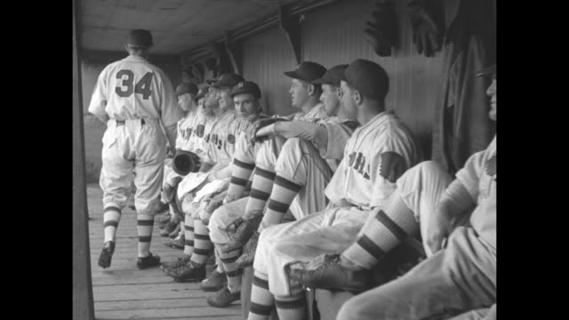 sit on the bench with boston braves during ball game first pictures made in dugout give you players' view of big league contest / mls boston braves... - dugout stock videos & royalty-free footage