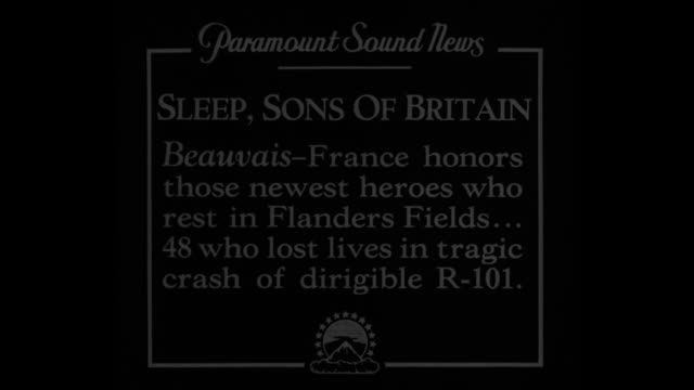 sleep sons of britain beauvais france honors those newest heroes who rest in flanders fields48 who lost lives in tragic crash of dirigible r101 / ms... - absturz von r101 stock-videos und b-roll-filmmaterial