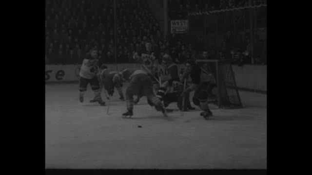special release / title card canada wins world hockey championship / ms canadian hockey team lined up on ice on right / ms soviet team lined up on... - former soviet union stock videos & royalty-free footage