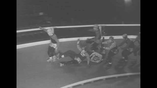"""spills"" superimposed over head on shot of sidecar speeding toward camera down track / man going over slide and falling off into water, losing skis /... - rodeo stock videos & royalty-free footage"