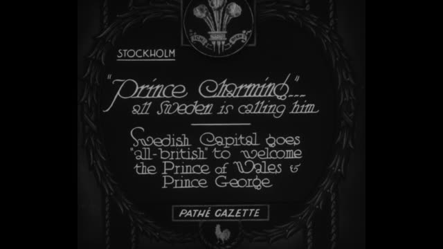 stockholm prince charming all sweden is calling him swedish capital goes 'allbritish' to welcome the prince of wales and prince george / shot of... - プリンス点の映像素材/bロール