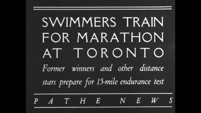 swimmers train for marathon at toronto former winners and other distance stars prepare for 15mile endurance test / people in bathing suits on the... - hoppa bock bildbanksvideor och videomaterial från bakom kulisserna