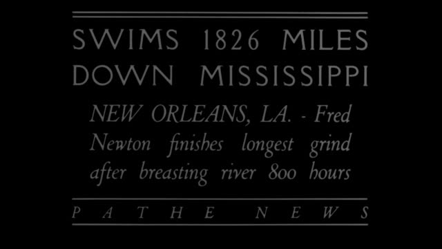 swims 1826 miles down mississippi new orleans la fred newton finishes longest grind after breasting river 800 hours / two rowboats escorting newton... - lubrication stock videos & royalty-free footage