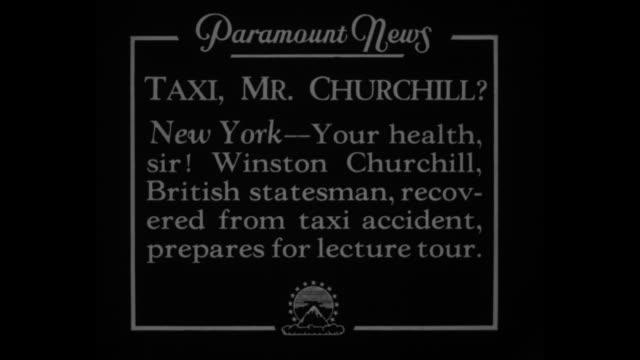 taxi mr churchill new york your health sir winston churchill british statesman recovers from taxi accident prepares for lecture tour / sot churchill... - winston churchill stock videos & royalty-free footage
