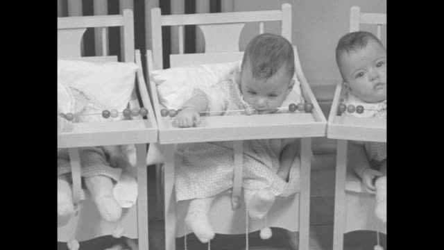the dionne babies today / intertitle editor's note pathe news has shown you the first and only motion pictures of the dionne quintuplets now we again... - ontario canada stock videos & royalty-free footage