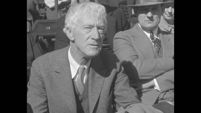 stockvideo's en b-roll-footage met the giants did it washington all over for 1933 new york downs senators in final game 43 taking 4 out of 5 battles and world's baseball championship /... - 1933