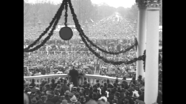then came the development which revolutionized the motion picture pathe news recorded the first presidential inauguration ever made in sound / crowd... - herbert hoover us president stock videos & royalty-free footage
