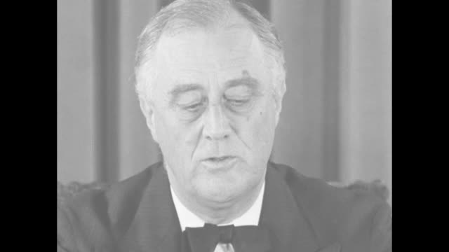 us policy nation to remain neutral says fdr / sot us president franklin d roosevelt this nation will remain a neutral nation but i cannot ask that... - d day stock videos & royalty-free footage