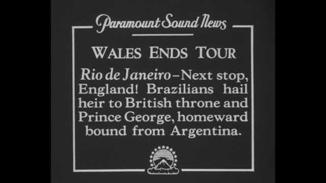 wales ends tour rio de janeiro next stop england brazilians hail heir to british throne and prince george homeward bound from argentina / edward... - principe persona nobile video stock e b–roll