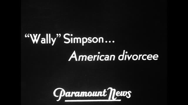 'wally' simpsonamerican divorcee / montage stills wallis simpson / note exact month/day not known - wallis simpson stock videos & royalty-free footage