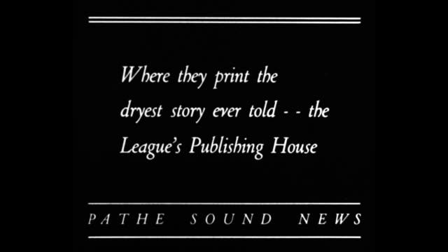 "vídeos de stock, filmes e b-roll de ""where they print the driest story ever told, the league's publishing house"" / dr. e. h. cherrington of the anti-saloon league stands behind... - equipamento de mídia"