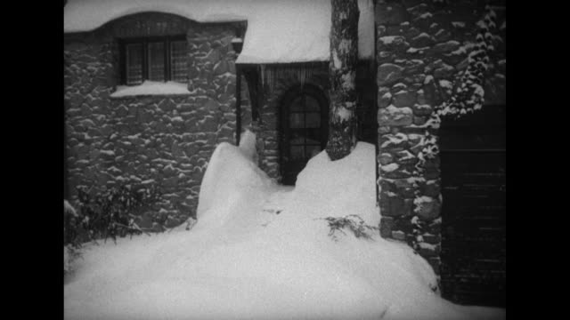 title card winter's last punch cripples the northeast ms capitol snow on ground with tree in foreground / ms white house snow on ground // vs deep... - punch card stock videos & royalty-free footage