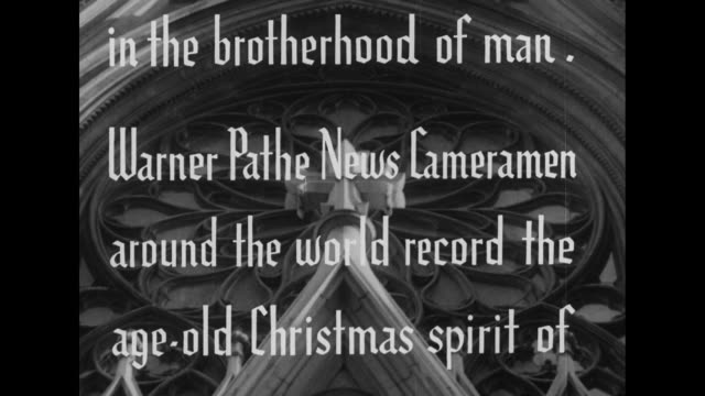 christmas 1949 as the spirit of christmas unites all humanity men and women everywhere reaffirm their faith in the brotherhood of man warner pathe... - north america stock videos & royalty-free footage