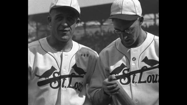 world series thrills st louis highlights of baseball's grand climax as cardinals and connie mack's athletics clash for 1930 championship / ms... - 1930 1939 stock videos & royalty-free footage