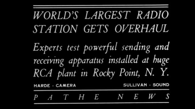 World's largest radio station gets overhaul Experts test powerful sending and receiving apparatus installed at RCA plant in Rocky Point NY / men and...