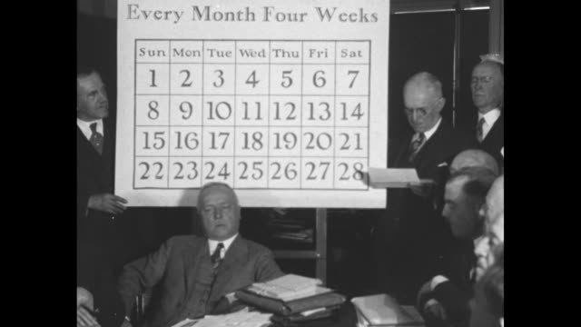 would put 13 jinx into every year washington congressman porter wants to 'pass a law' legalizing trick calendar / rep stephen g porter standing next... - 1928 stock videos & royalty-free footage