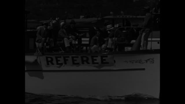"""""""yale sweeps regatta! new london, conn. - eli eights outrow harvard on thames river! pres. roosevelt sees franklin junior's shell beaten in freshman... - anchored stock videos & royalty-free footage"""