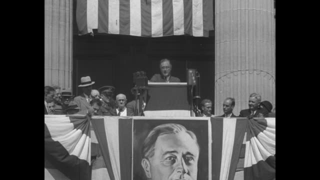 stockvideo's en b-roll-footage met your next president tells what he will do pathe news presents this important summary of the views of hoover and roosevelt so you can compare what... - presidentsverkiezing