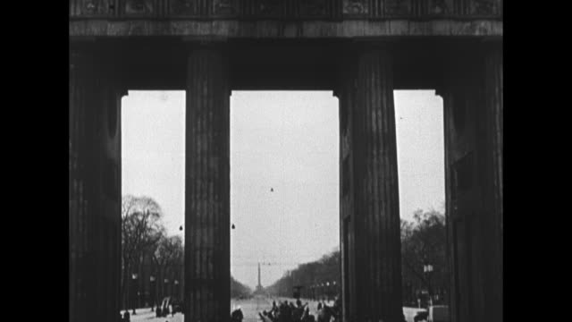 "and ""55th birthday of hitler 20 april 1944""/ vo german language narration throughout / a huge eagle emblem with wings outspread standing on a wreath... - 1944 stock videos & royalty-free footage"