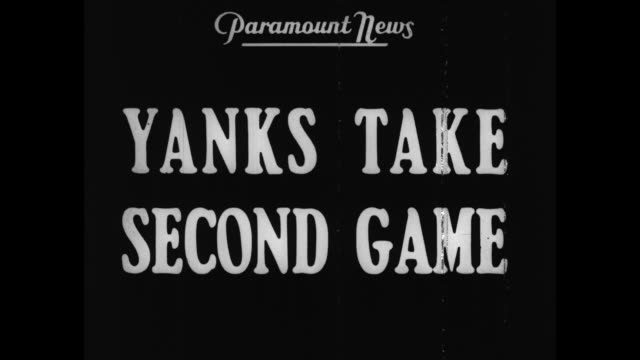 'Extra Yanks Take Second Game' / fans in the stands at Chicago's Wrigley Field for game 2 of 1938 World Series New York Yankees v Chicago Cubs /...