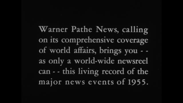 headline stories of 1955 / warner pathe news calling on its comprehensive coverage of world affairs brings you as only a worldwide newsreel can this... - chiang kai shek stock videos and b-roll footage