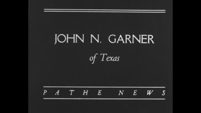 the vicepresidential nominee john n garner of texas / us congressman john nance garner at microphone / garner chats and laughs with humorist will... - cravat stock videos and b-roll footage