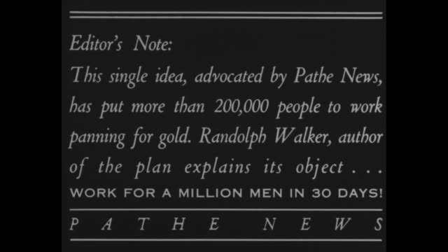 What gold grubstake plan means and Editor's Note This single idea advocated by Pathe News has put more than 200000 people to work panning for gold...