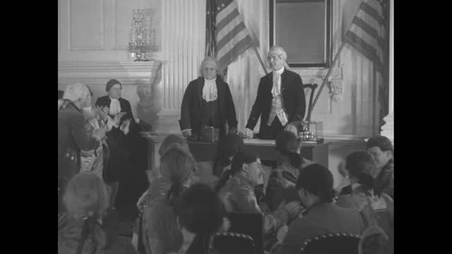 """title """"constitution anniversary celebrated, 1787 - 1937"""" superimposed over close shot of liberty bell / shot of exterior of independence hall / close... - benjamin franklin stock videos & royalty-free footage"""