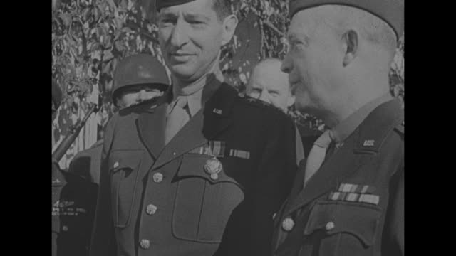 stockvideo's en b-roll-footage met french north africa today / shot from ship panning across algerian coastline / [november 1942] cu us general mark clark deputy commanderin chief on... - generaal militaire rang