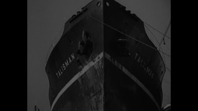 vídeos de stock e filmes b-roll de 'mohawk' inquiry on washington maritime laws face big change inquiries begin into 'mohawk' sinking fatal to 45 in jersey coast collision / two aerial... - barco salva vidas