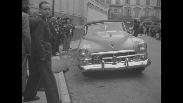 patrice wymore wed to errol flynn superimposed over her wiping his chin / ws nice france at shore of mediterranean sea / 1950 cadillac convertible... - chin stock videos and b-roll footage