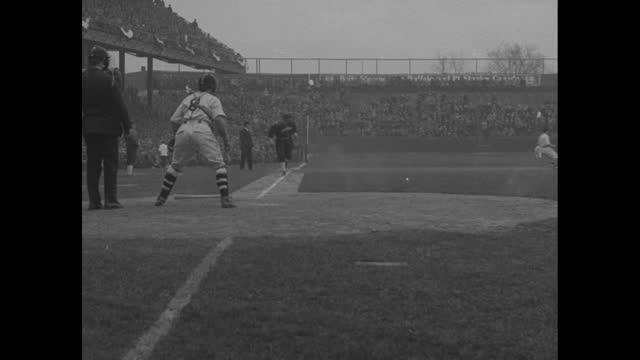 """title """"some young feller!"""" superimposed over close shot of pitcher bob feller talking to camera / shot of exterior of van meter high school and... - chicago illinois stock videos & royalty-free footage"""