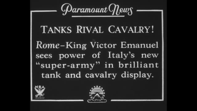tanks rival cavalry rome king victor emanuel sees power of italy's new superarmy in brilliant tank and cavalry display / king and many officers... - steep stock videos & royalty-free footage
