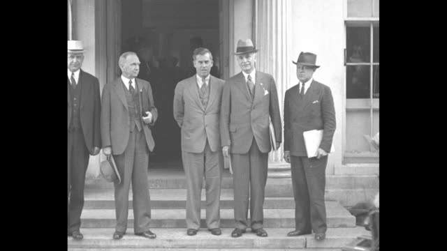 the camera reporter superimposed on cameramen with large camera / south portico with awnings / lr solicitor general stanley foremen reed commerce... - cordell hull stock videos and b-roll footage