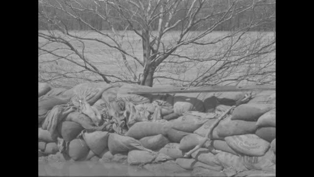 "title ""washington dc"" superimposed over bridge crossing potomac river, traffic on bridge, people at railing / water rushing under bridge / sandbags... - river potomac stock videos & royalty-free footage"