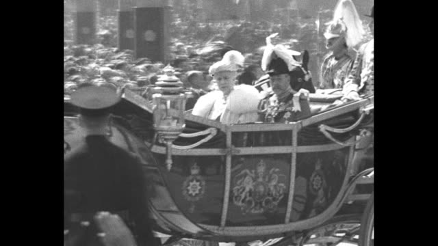 world mourns king george v superimposed over photo of king / side view edward prince of wales now edward viii / montage george v and queen mary ride... - prince stock videos and b-roll footage