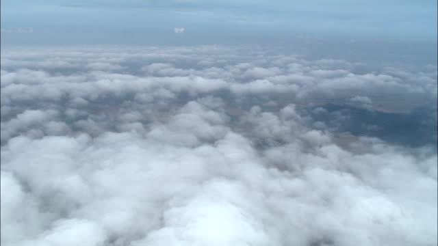 titling down through broken cloud to ressaincourt  - aerial view - lorraine, meurthe et moselle, arrondissement de nancy, france - overhead projector stock videos & royalty-free footage