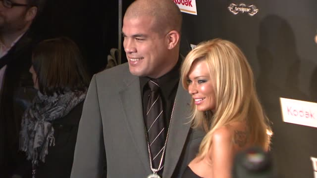 Tito Ortiz and Jenna Jameson at the 'Celebrity Apprentice' Viewing Party at Tenjune in New York New York on February 7 2008