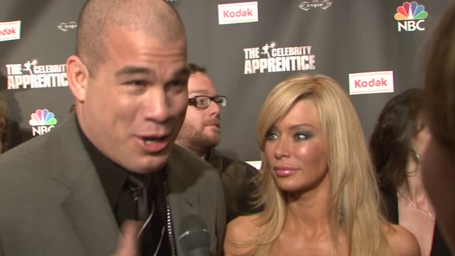 Tito Ortiz with girlfriend Jenna Jameson talking about wanting to do 'Celebrity Apprentice' for his charity and to show his business sidewhat it was...
