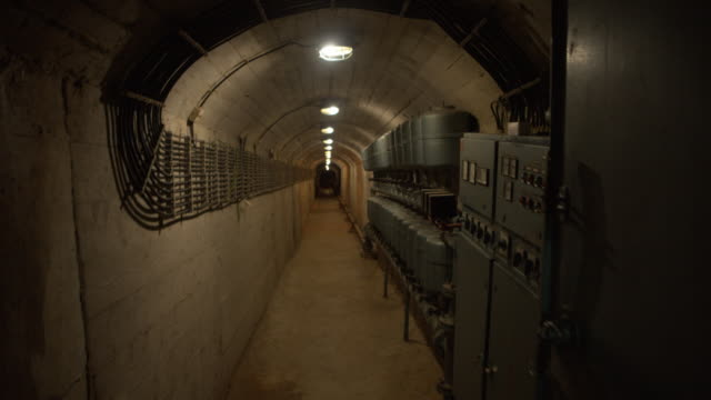 pov ark d-0 - tito's nuclear bunker - bomb shelter stock videos & royalty-free footage