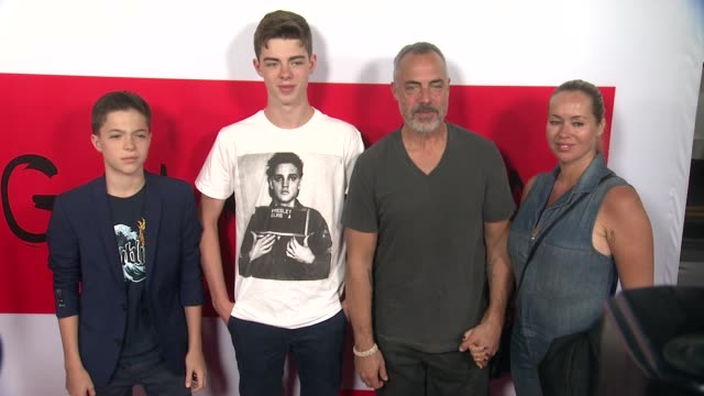 stockvideo's en b-roll-footage met titus welliver at the the gunman los angeles premiere at premiere house on march 12 2015 in los angeles california - titus welliver